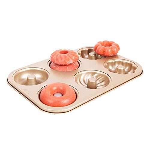 Weich Cakevorm 6/12 Zelfs Round Hollow Donuts Make cakevorm Brood Koekjes Non-stick huis bakvorm Atmungsaktiv (Size : A)