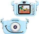 Wurkkos Cámara Digital de 12.0 Megapixeles para niños.para Chicos y Chicas Entre 3 y 10 años de Edad. Juguete para Regalo de cumpleaños. Cámara para grabación HD 1080P (Tarjeta de 16GB incluida)