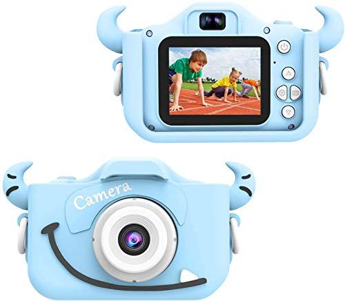 Wurkkos - Cámara digital para niños, cámara de 12 MP con carcasa de silicona para niños de 3 a 10 años, ideal para un regalo. Cámara HD con pantalla de 1080p, dos pulgadas, tarjeta de memoria 16 GB