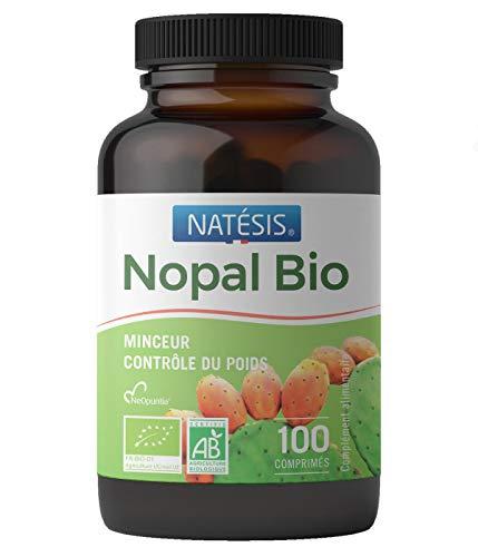 Nopal bio -- Complément alimentaire -- 100 comprimés -- Capteur de graisse -- Minceur -- NATESIS