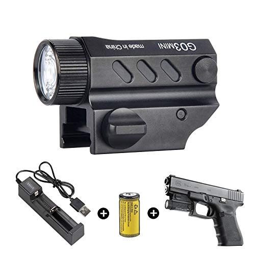 Garberiel G03 LED Handgun Flashlight 320 Lumens 1 Modes Waterproof