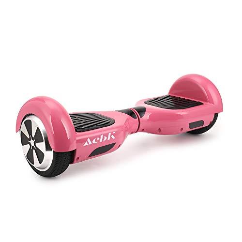 ACBK - Hoverboard Patinete Eléctrico Autoequilibrio con Ruedas de 6.5' (Altavoces Bluetooth con Luces Led integradas), Velocidad máxima: 12 km/h - Autonomía 10 km, Rosa