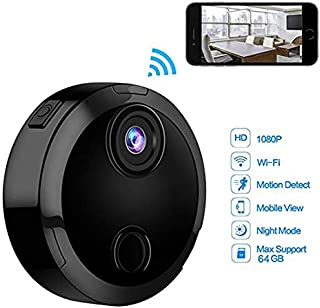 Thboxes Mini WiFi IP Camera HD 1080P Infrared Night Vision Micro Network Camcorder 150° Wide-Angle Remote Monitoring Alarm Prompt Camera