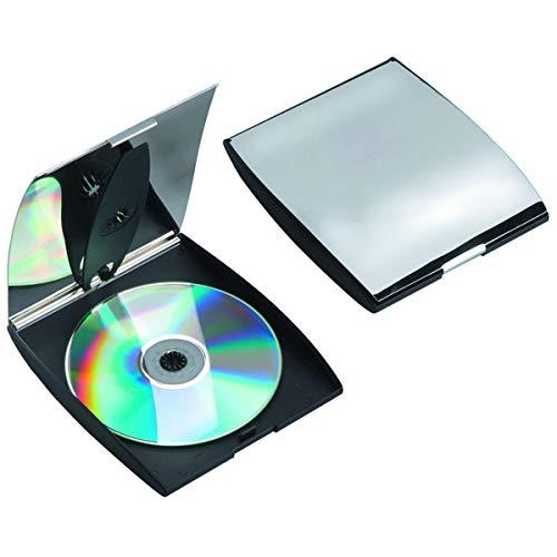 SILBERKANNE - Custodia per 2 CD, 15 x 13 x 2 cm, placcata Argento