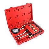 Indicador de presión del cilindro: kit de medidor de compresión de motor de gasolina automotriz profesional Herramienta de motocicleta para automóvil