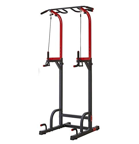 DOLPHY Steel Dip Stands Adjustable Power Tower Pull Up Bar Workout Dip Station Multi-Function Push...