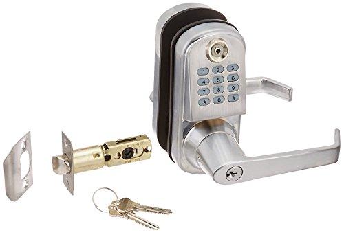 Resort Lock RL2000N-S Remote Code Door Lock, Silver