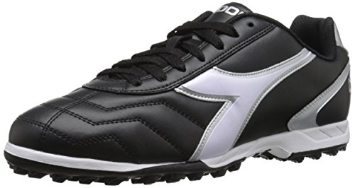 Diadora Men's Capitano TF Turf Soccer Shoes (11.5, Black/White)