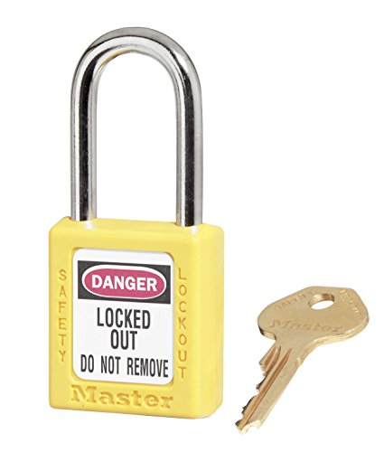 1-1//2 Shackle Clearance Yellow Keyed Different Brady Plastic Lockout//Tagout Padlock 1-3//4 Body Length Pack of 1