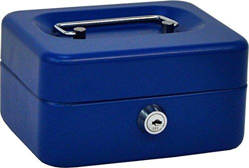 OLLE B152G Caja de caudales con Bandeja Extraible Color Gris, Azul, Pequeña, 6
