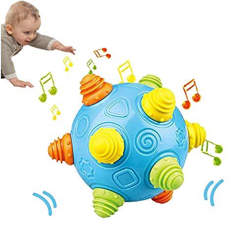 DQTYE BPA Free Baby Music Shake Dancing Ball Bouncing Jumping Sensory Developmental Toy Activation Early Educational Game for Kids Toddlers