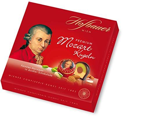 Hofbauer Wien, Mozartkugeln 200 g, Zartbitterschokolade, Marzipan, 1 stück