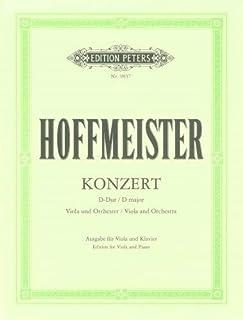 Hoffmeister: Concerto in D major (Viola & Piano) by Franz Anton Hoffmeister (2015-10-21)