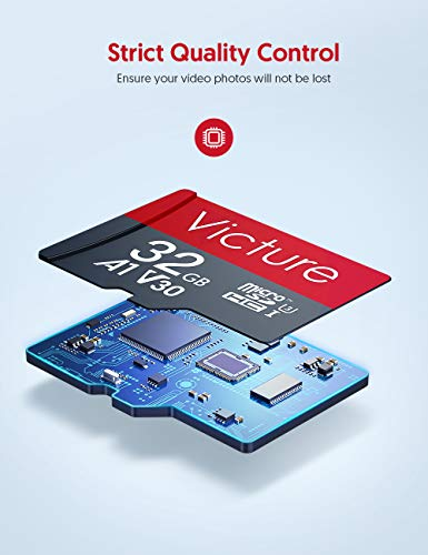 Victure microSDXC Memory Card 32 GB Class 10 / U3 / V30 Speicher kompatibel mit den meisten Geräten
