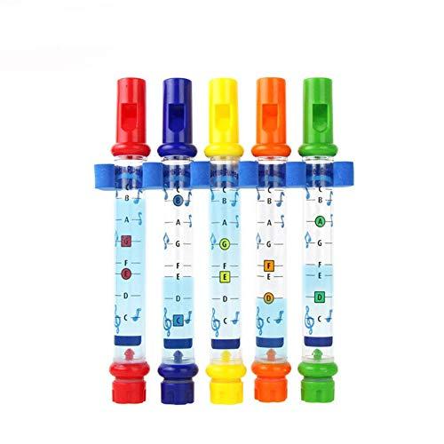Flauta de cinco colores, instrumento musical, baño para niños, juguetes acuáticos para el baño, melodías para la bañera, música para bebés, hombres y mujeres, juegos de educación temprana