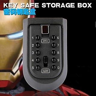 キー安全収納ボックス、コードコンビネーションロック付きキー安全収納オーガナイザーボックスロックセキュリティ秘密隠しホームキーキャビネット用10-デジタル安全ロッカー金庫