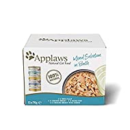 Applaws 100% Natural Wet Cat Food, Multipack Fish and Chicken Mixed Selection in Broth 70 g Tin (Pac...