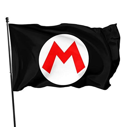 Shenhui Super Mario Garten Flagge,3x5 Ft?150cm X 1489cm?, Frühling, Sommer, Herbst, Garten, Willkommen Hof, Outdoor Decor Garden Flag