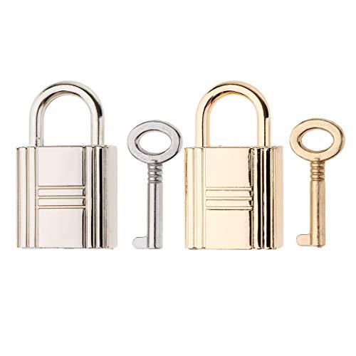 #N/A 2x Metal Tiny Luggage/Suitcase Craft Box Locks