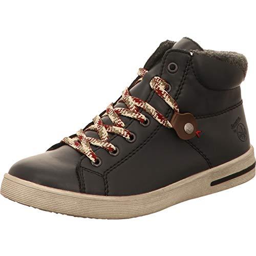 Rieker Damen Sneaker, Frauen High-Top-Sneaker, Freizeit sportschuh schnürschuh Sneaker-Stiefel mid Cut,Ozean,40 EU / 6.5 UK