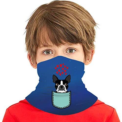 Bufanda de Fibra Térmica Infantil Boston Terrier y Bulldog Francés para Niño y Niña