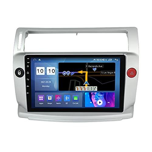 KANGLE-DERI Carplay de navegación GPS en automóvil, Adecuado para Citroen Sega C4 04-14