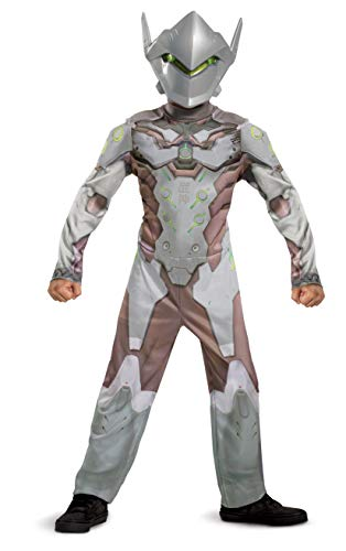 Genji Costume for Kids, Official Overwatch Costume Jumpsuit with Mask...