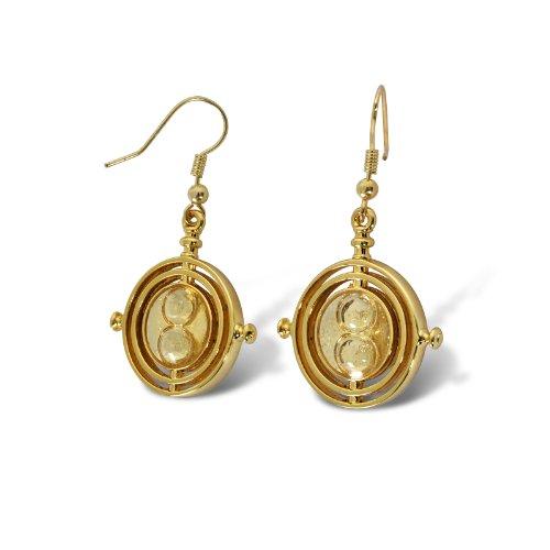 Harry Potter Hermine Grangers Zeitumkehrer Ohrringe in Geschenkbox vergoldet