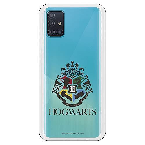 Funda para Samsung Galaxy A51 Oficial de Harry Potter Hogwarts Escudo Transparente para Proteger tu móvil. Carcasa para Samsung de Silicona Flexible con Licencia Oficial de Harry Potter.