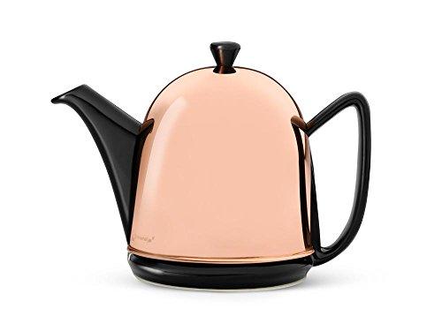 Bredemeijer Teekanne Manto 1,0L, schwarz, Kupfer-Mantel, Edelstahl, Kupferfarben, 13.8 x 23.7 x 17.3 cm