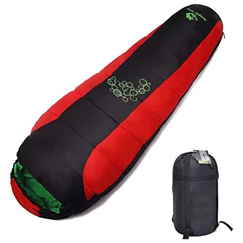 Sacos de Dormir para Camping Espesamiento Relleno Cuatro Agujeros Algodón Equipo Resistente al Agua para Senderismo y Excursionismo, Montañismo,1150g