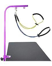 Pet Grooming Loop, huisdieren schoonheidsbehandelingen tools schuimkatoen kraag 19.69in Short Rope Pet Grooming Harness, voor hond voor Pet(Yellow+blue)