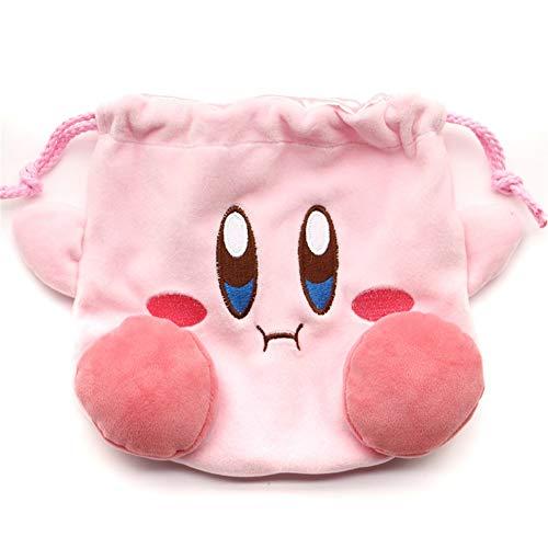 Lopbraa Star Plush Pink Drawstring Plushie Kawaii Bag Travel Purse Makeup Cosmetic Storage Bags Organizer (Style One)