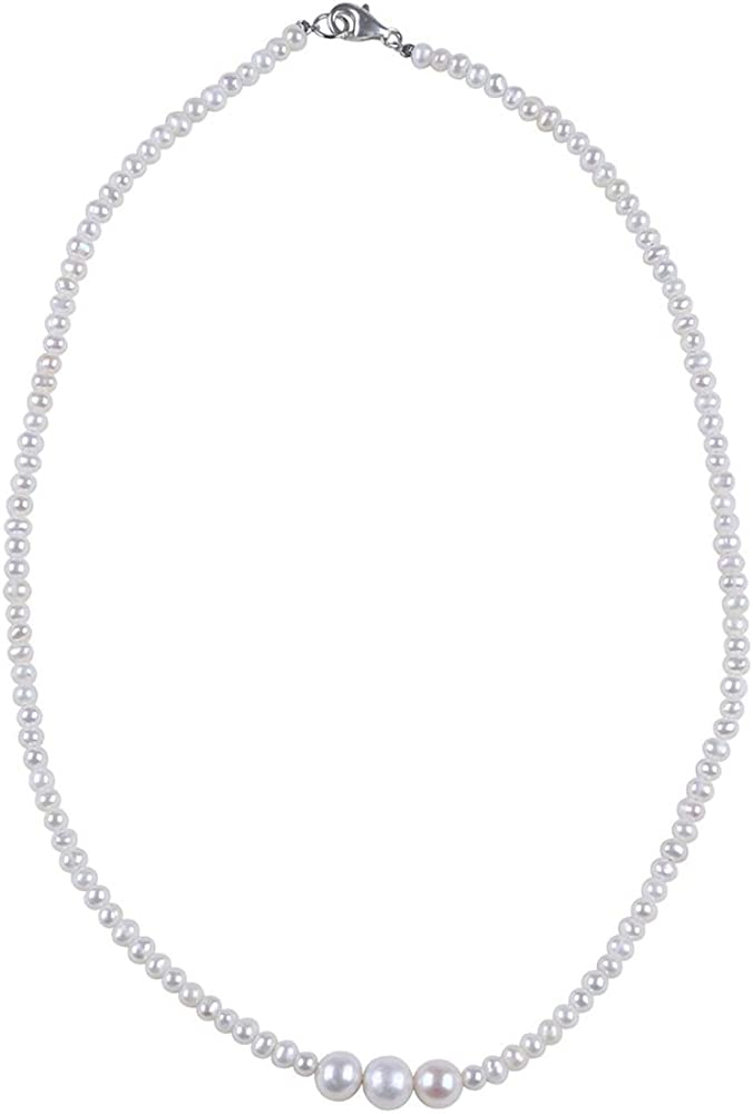 Exquisite Freshwater Pearl Sterling Max 60% OFF Silver 925 Superior Necklace-