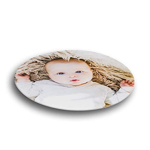Essbares Foto für Torten, Tortenbild, Tortenaufleger mit eigenem Foto sofort frei gestalten - Beste Qualität (rund, 18cm Durchmesser)
