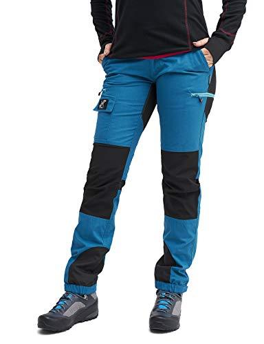 RevolutionRace Nordwand Pants Damen Wasserabweisende, Atmungsaktive und Strapazierfähige Outdoorhose zum Wandern, Trekking, Camping, Klettern, Mountainbiken und Agility, Petrol Blue, 36