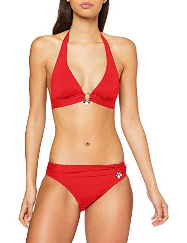 s.Oliver RED LABEL Beachwear LM Damen Tonja Bikini-Set, rot, 42 C/D