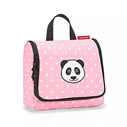 Reisenthel toiletbag Kids Panda Dots Pink Kinder Kulturbeutel für Jungen und Mädchen aus wasserabweisendem Polyestergewebe mit 3 Liter Volumen - Maße (B x H x T in cm): 23 x 20 x 10