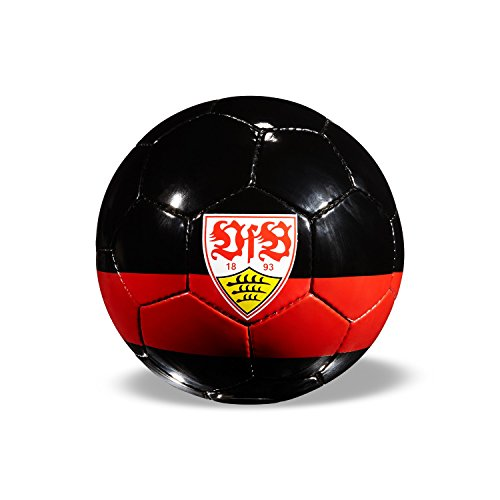VFB Stuttgart Fussball Schwarz / rot Größe 5 Wappen / Roter Ring Trainingsball