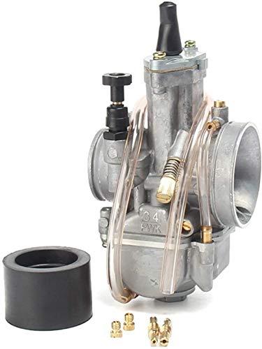 De Galen Carburadores Tratamientos Universal Motocicleta PWK 28mm 30mm 32mm 34mm Carburador 2T 4T Carburador para Mikuni Koso/Fit For - ATV Suzuki Yamaha Honda/Power Jet Parts (Color: 34mm)