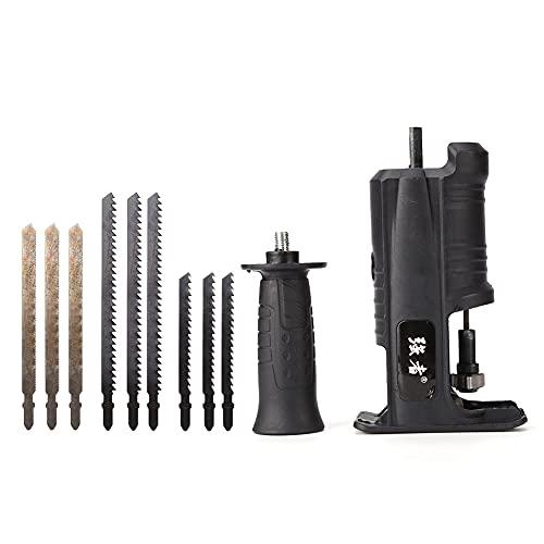 SOBW Fijación funcional para sierra de sable, taladradora eléctrica, sierra de sable, sierra de sable, sierra de calar, lima de metal, sierra doméstica para cortar madera y metal