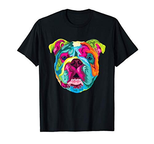 Pop Art Englische Bulldogge Hund Hundeliebhaber Bulldog T-Shirt