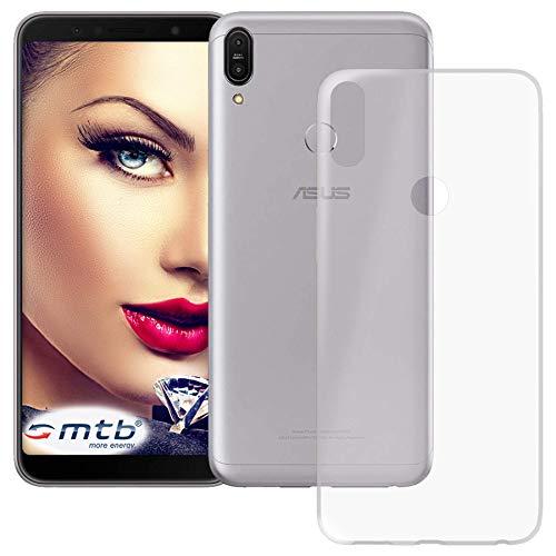 mtb more energy® Custodia Clear & Slim per ASUS ZenFone Max PRO M1 (ZB601KL, 6.0'') - Trasparente - Flessibile - Sottile - TPU Silicone Case Cover