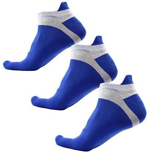 Panegy Calcetines deportivos para hombre deportivos deportivos 6 pares cortos de algodón con diseño de malla transpirable