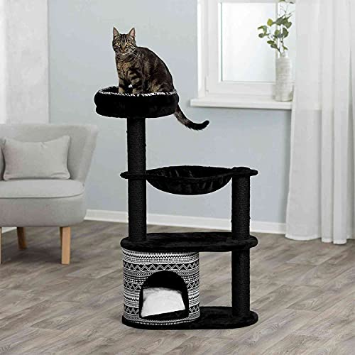TRIXIE Giada Cat Tree, Cozy Condo, Hammock, Scratching Post, Indoor Cat Playground