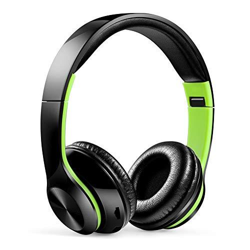 Shiwen Yuzhijie multi color auricular plegable inalámbrico Bluetooth tarjeta música deportes FM universal, verde