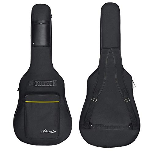 Tebery Funda para guitarra acústica con correa ajustable para el hombro de 104 cm - color negro