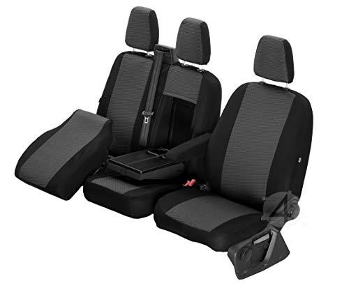 Passgenaue Sitzbezüge Hero ideal angepasst 1+2 (3-Sitzer) Fahrzeugspezifisch Polstermaterial | 4D-Z4L-DV-TC3M-01-65