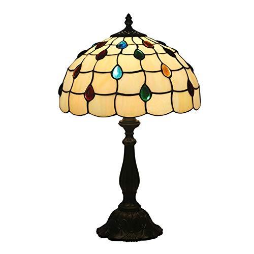 WELSUN Tiffany 12 inch tafellamp slaapkamer lamp nachtlampje creatief stuk van Europese klassieke weegschalen