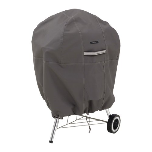 Classic Accessories,55-178-015101-EC, Ravenna Water-Resistant 26.5 Inch Kettle BBQ Grill Cover,Taupe,Medium